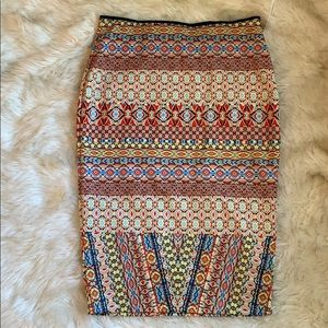 NWT Bisou Bisou Stretch Pencil Skirt